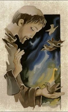 Francis of Assisi Catholic Art, Catholic Saints, Religious Images, Religious Art, Ora Et Labora, St Francisco, St Clare's, Les Religions, Francis Of Assisi
