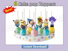 Printables MINIONS Despicable me Cupcake Topper Cake by ANNILORACK