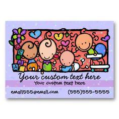 Minimalistic is Sweet Light Pink Linen Look Mini Business Card ...