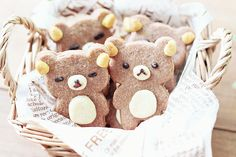 Bear cookies! The sassy one on the left! haha