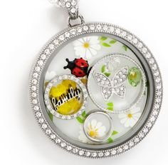 Origami Owl Spring 2017: Introducing a clear, daisy plate for the legacy locket. So sweet and perfect for spring!