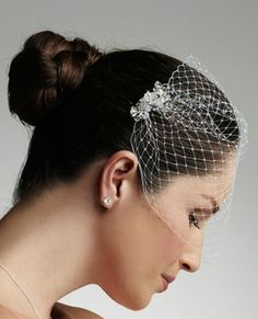 russian tulle blusher veil with crystals