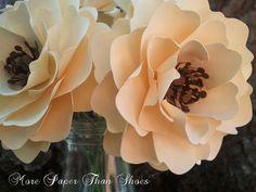 Бумажные цветы - Свадьбы - Дни рождения - Детские души - Stemmed Цветы - большое разнообразие цветов - набор из 24