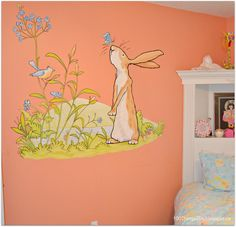 Little S Bedroom Nutbrown Hare Mural Guess How Much I Love You C