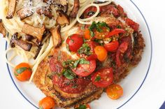 """Eggplant Parmigiana; I did not like eggplant til I had this. The secret is """"sweating"""" the eggplant. (sub out egg and cheeses for veg alt)"""
