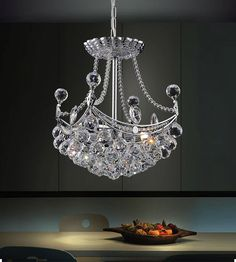 Crystal World 8041P10C-S Jasmine 4 Light Mini Chandelier In Chrome is made by…