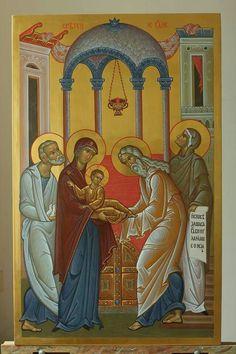 Religious Icons, Religious Art, Byzantine Icons, Orthodox Icons, Love Is All, Jesus Christ, Nativity, Religion, Presentation