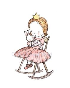Royal Lullaby  Archival Print  Children's Art
