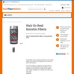 Hair So Real is hair substitute fibers to cover bald spots, and reduce the appearance of hair loss and thinning hair.