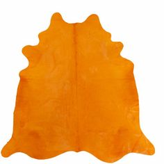 Chesterfield Leather Large Dyed Brazilian Cowhide Orange Area Rug | Wayfair