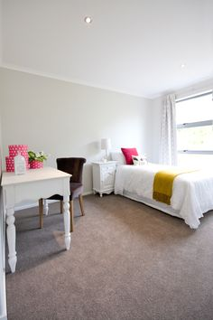 A classical feel for this bedroom. Inside our Long Bay Showhome