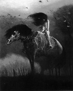 Rider by Zdzisław Beksiński