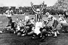 Starr in to clinch the win in the Ice Bowl, my parents were there!   -7degrees!