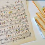 Colorful Everyday Scenes Illustrated on Vintage Sheet Music by 'People Too'