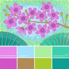 Mental Color Palette 2 - Balance your mind   Päivi Vesala - Mental Images colouring books