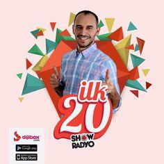 Ve beklenen liste #ilk20 tüm heyecanı ile yayında. #Dijibox #ShowRadyo #music #eğlenceli #mood #popmusic #musicnews #hakandemir