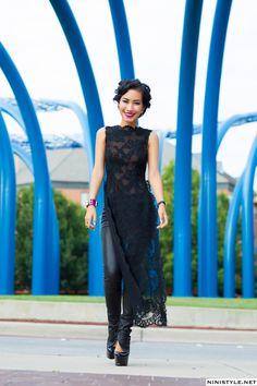 Vietnamese dress (ao dai) - would make a cool churidar suit
