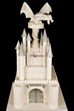 Dragon atop Castle Cake