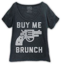 Buy Me Brunch Womens Tank Black