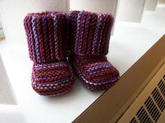 Baby Baby Booties, free pattern