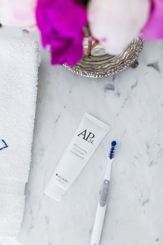 your teeth with toothpaste Trying whitening fluoride toothpaste by Nu Skin on Trying whitening fluoride toothpaste by Nu Skin on Ap 24 Toothpaste, Whitening Fluoride Toothpaste, Best Teeth Whitening, Nu Skin, Best Hair Care Products, Skin Products, Beauty Products, White Teeth, I Love Fashion