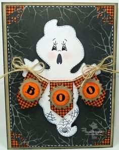 Halloween scrapbook page idea