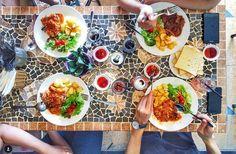 9 quán cafe nền gạch hoa cực nghệ ở Sài Gòn mà bạn nên ghé qua... chụp hình - Ảnh 18. Parrot Flying, Outdoor Cafe, Coffee Shop Design, Restaurant Design, Interiors