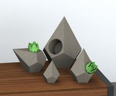 Teardrop Dodecahedron Mold Set - Reusable Molds - Sizes S-XXL - Now available in 5 sizes!! Concrete Mold, Geometric Planter
