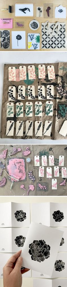 Botanical print designs by Little Print Fabrics