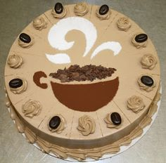 We've been told this one tastes just like creamy coffee ice cream! Layers of cake, mocha butter cream, mocha. Coffee Bar Party, Coffee Theme, Coffee And Walnut Cake, Coffee Cake, Coffee Lover Gifts, Coffee Lovers, Cake Decorating Icing, Mocha Cake, Fancy Desserts