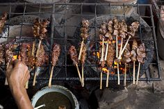 Street Food: BBQ beef skewers, Siem Reap, Cambodia // photo: David Hagerman