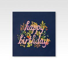Botanic Birthday Cards on Behance