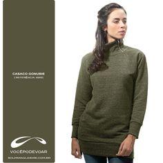 Casaco Gola Alta Gonubie / Referência: 6919 /  Disponível nas cores: Verde e Vermelho