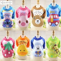 Winter Cartoon Dog Clothes Puppy Dog Cat Clothing Soft Warm Clothes for Small Medium Dogs Cats Pet Sweaters Coat XS-XXL #Affiliate