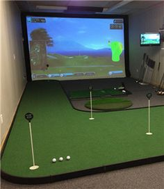 At Home / In House / Residential | Indoor Golf Simulator | Virtual Golf  Course Driving Range | X GOLF Get The Very Best In Golf Push Carts And Moreu2026