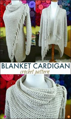 This blanket cardigan is absolutely gorgeous, and so easy to make too! patterns Looking for the perfect, classy, and easy-to-make Blanket Cardigan crochet pattern? Look no more because this is it, my friend! Gilet Crochet, Crochet Shirt, Crochet Jacket, Crochet Scarves, Crochet Clothes, Crochet Sweaters, Ravelry Crochet, Crochet Dresses, Crochet Cardigan Pattern Free Women