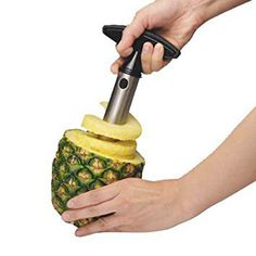 Retains the juice in the pineapple. Box Contents: 1 x Pineapple Corer. Makes Perfectly shaped pineapple rings. 1 x Pineapple Corer. Easy to Clean made of Stainless Steel and Plastic Handle. Pineapple Slicer, Pineapple Fruit, Pineapple Kitchen, Canned Pineapple, Fried Rice Dishes, Unique Christmas Gifts, Christmas Ideas, Vide, Kitchen Gadgets