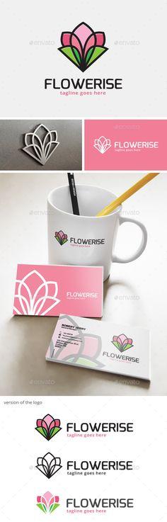 Flower Logo — Vector EPS #icon #market • Available here → https://graphicriver.net/item/flower-logo-/12583761?ref=pxcr