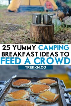 Camping Discover 25 Yummy Camping Breakfast Ideas to Feed a Crowd Feeding your camping crew does not have to be hard! These 25 camping breakfast ideas include make-ahead options burritos casseroles sandwiches and more. Camping Ideas, Camping Essentials, Camping With Kids, Family Camping, Tent Camping, Camping Hacks, Camping Recipes, Camping Supplies, Outdoor Camping