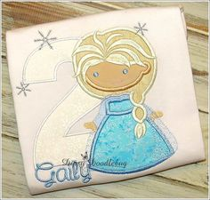 Elsa Winter Queen Cutie Birthday Shirt for Girls - Personalization Available!