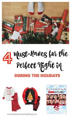 The holidays are coming - a time for joy and excitement. It's hard to not let the stress overcome you so we must be intentional in enjoying this special time of year. Read my 4 must-haves for a cozy night in this holiday season. Snuggle up with your kids and enjoy all the jolly and cheer.