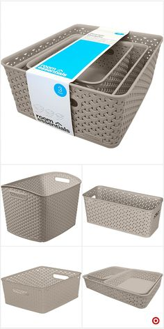 Shop Target for decorative boxes and baskets you will love at great low… (With images) Linen Closet Organization, Kitchen Organization, Organizing, Organization Ideas, Modern Interior Design, Interior Design Living Room, Organizar Closet, Pantry Storage, Storage Containers