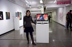Video Performance and Animation Artist Yuling Chen- Showing her animation at a group exhibition called 'Gender & Lens