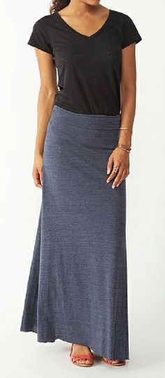 Maxi w/ v-neck...simple and easy for summer