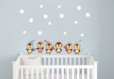 Nursery Penguins Wall Decals Nursery Baby Girl/Boy by StyleAwall, $49.99