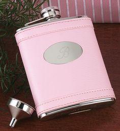 Pink Flask: $31.95 #Bridesmaid #Wedding