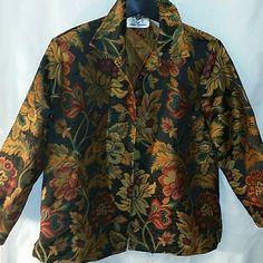 Erin London tapestry jacket Erin London tapestry jacket with fall colors. Erin London  Jackets & Coats Blazers