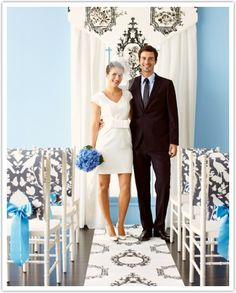 DIY Wedding Projects Using Wallpapers