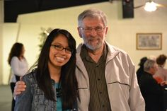 Marly Flores, OASIS Intergenerational Tutoring Coordinator and Mr. Duane Carlson, OASIS tutor.