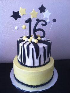 Yellow Sweet 16 cake.